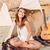 かなり · 若い女性 · ギター · ビーチ · 音楽 · 少女 - ストックフォト © deandrobot