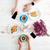 рук · человека · женщину · питьевой · кофе · круассаны - Сток-фото © deandrobot