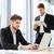 twee · zakenlieden · vergadering · binnenshuis · koffie · laptop - stockfoto © deandrobot