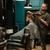 professionele · kapper · haardroger · salon · mannelijke · haren - stockfoto © deandrobot