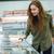 vrouw · kiezen · producten · cute · winkelwagen · naar - stockfoto © deandrobot