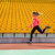 kobieta · uruchomiony · stadion · portret · młoda · kobieta · dziewczyna - zdjęcia stock © deandrobot