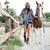gelukkig · vrouw · paard · boerderij · charmant · jonge · vrouw - stockfoto © deandrobot