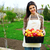 nő · tart · almák · étel · természet · szépség - stock fotó © deandrobot