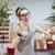 femme · souriante · fleuriste · travail · souriant - photo stock © deandrobot