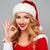 mulher · jovem · vermelho · traje · branco · menina - foto stock © deandrobot