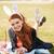 piękna · młoda · kobieta · bunny · kłosie - zdjęcia stock © deandrobot