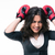 loser businesswoman with boxing gloves stock photo © deandrobot
