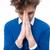 монах · религиозных · серый · Библии · молятся · темно - Сток-фото © deandrobot