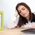 vervelen · moe · vrouw · documenten · business · onderwijs - stockfoto © deandrobot