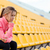 woman in sports wear resting at stadium stock photo © deandrobot