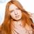 mooie · vrouw · naar · camera · portret - stockfoto © deandrobot