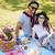 gelukkig · paar · picknick · buiten · vrouw · boom - stockfoto © deandrobot