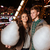 çift · lunapark · pamuk · şeker · sıcak · elbise - stok fotoğraf © deandrobot