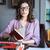 óculos · velho · livro · retro · leitura · biblioteca - foto stock © deandrobot