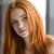 hermosa · jóvenes · mujer · pecas · retrato - foto stock © deandrobot