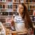 девушки · питьевой · кофе · чтение · книга · портрет - Сток-фото © deandrobot