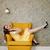 függőleges · kép · nő · fotel · citromsárga · ruha - stock fotó © deandrobot