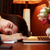 tired woman sleeping on the table at home stock photo © deandrobot