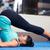 woman doing yoga exercises stock photo © deandrobot