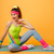 Incredible young sports lady make sports exercises stock photo © deandrobot
