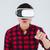 ázsiai · férfi · visel · virtuális · valóság · berendezés - stock fotó © deandrobot