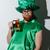 drunk man in stpatriks costume holding beer stock photo © deandrobot