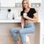 dikey · görüntü · kadın · mutfak · fincan - stok fotoğraf © deandrobot