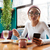 женщины · Кубок · кофе · чтение · бизнеса · женщину - Сток-фото © deandrobot