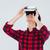 derűs · fiatal · ázsiai · férfi · visel · virtuális - stock fotó © deandrobot