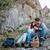 rock · Sitzung · Tassen · Kaffee · Paar - stock foto © deandrobot