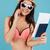 довольно · молодые · Lady · паспорта · говорить - Сток-фото © deandrobot