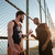 basketbal · spelers · permanente · samen · speeltuin · twee - stockfoto © deandrobot