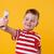 glimlachend · weinig · jongen · mobiele · telefoon - stockfoto © deandrobot