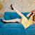 feliz · risonho · morena · mulher · vestir · falante - foto stock © deandrobot