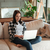 woman using laptop stock photo © deandrobot