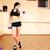 genç · kadın · yoga · mat · spor · salonu · mutlu · spor · uygunluk - stok fotoğraf © deandrobot