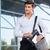 серьезный · молодые · бизнесмен · глядя · далеко · далеко - Сток-фото © deandrobot