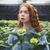 portre · kadın · bitki · pot · çiçek - stok fotoğraf © deandrobot