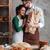 boldog · szerető · pár · áll · kenyér · ölel - stock fotó © deandrobot