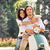 romantische · gelukkig · paar · straat · zomer - stockfoto © deandrobot