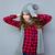 heureux · femme · chapeau · écharpe · portrait · posant - photo stock © deandrobot