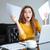 frustrato · contabili · donna · carta · lavoro - foto d'archivio © deandrobot