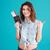 portret · vrolijk · gelukkig · vrouw · zomer · kleding - stockfoto © deandrobot