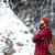 человека · Постоянный · горные · водопада · зима - Сток-фото © deandrobot