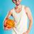 egy · fiatal · kosárlabda · játékosok · labda · rivális - stock fotó © deandrobot