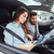 beautiful couple in car stock photo © deandrobot