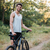 genç · bisiklet · orman · yol · bakıyor · kamera - stok fotoğraf © deandrobot