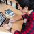 persoon · naar · laptop · nadenkend · mannelijke · scherm - stockfoto © deandrobot