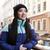 улыбаясь · азиатских · женщину · одежды · рюкзак - Сток-фото © deandrobot